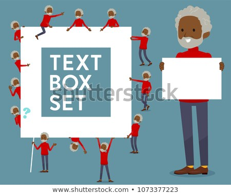 flat type high neck old man black_text box Stock photo © toyotoyo