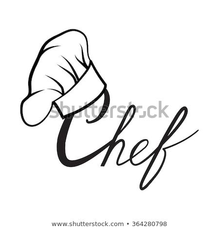 ikon · şef · restoran · siluet · çatal · bıçak · takımı - stok fotoğraf © robuart