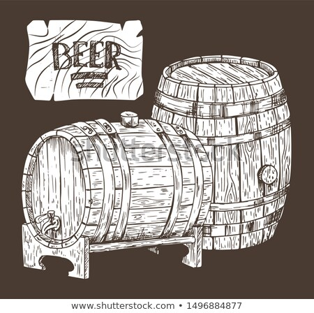 Beer Kegs Isolated on Black Backdrop Graphic Art Stock photo © robuart