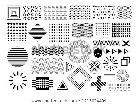 Kalp geometrik circles vektör dizayn Stok fotoğraf © blaskorizov