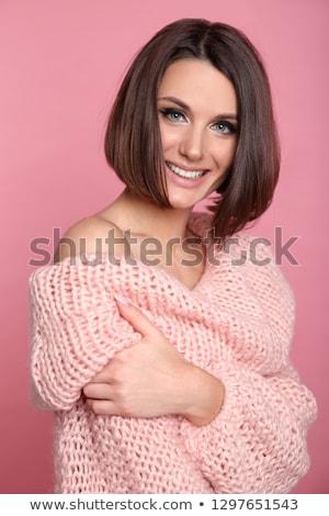 rosa · piccolo · donna · bella · donna · alla · moda - foto d'archivio © NeonShot