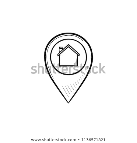 house with navigation mark hand drawn outline doodle icon stock photo © rastudio