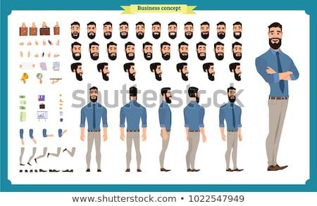 Businessman standing vector illustrations set. Stock photo © RAStudio