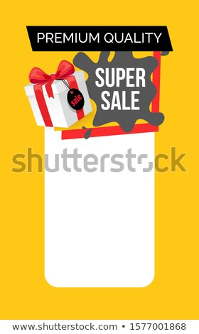 Reduced Price on Goods, Special Offer. Present Box Stock photo © robuart