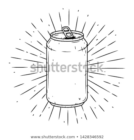 Beer in Aluminum Can Sketch Vector Illustration Stock photo © robuart