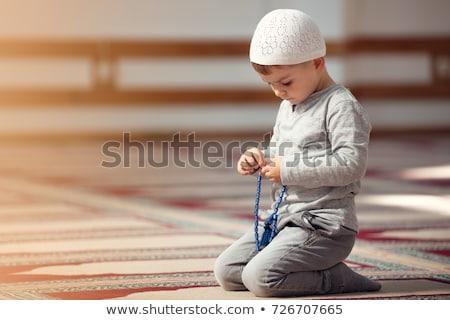 Muszlim gyerek imádkozik mecset gyermek fiú Stock fotó © artisticco