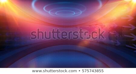 rendkívüli · hírek · tv · nő · riporter · televízió · térkép - stock fotó © colematt