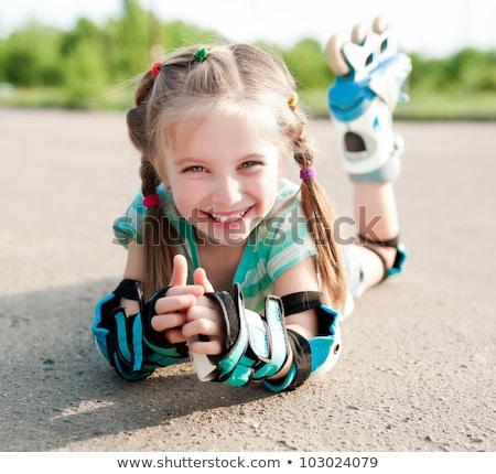 menina · vetor · isolado · feliz · esportes · esportes - foto stock © cteconsulting