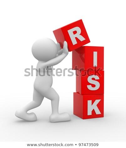 Szó kockázat 3D renderelt kép illusztráció izolált Stock fotó © djmilic