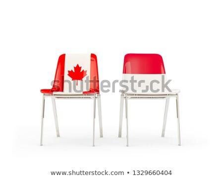 Due sedie bandiere Canada Indonesia isolato Foto d'archivio © MikhailMishchenko