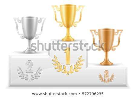 победителем подиум графического дизайна шаблон вектора изолированный Сток-фото © haris99