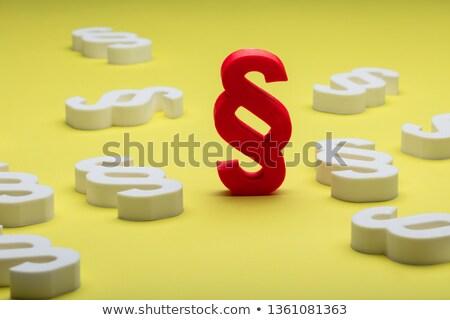 Vermelho branco parágrafo símbolo amarelo fundo Foto stock © AndreyPopov