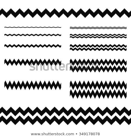 zigzag line page divider line, Graphic design element. Zigzag separator. Vector illustration isolate stock photo © kyryloff