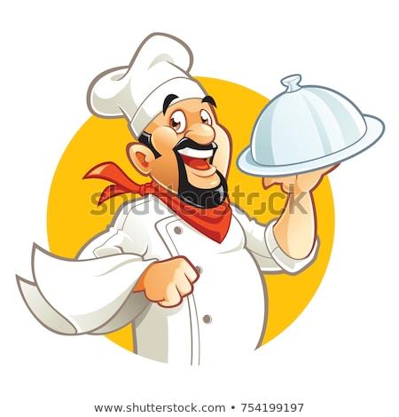 Cartoon · повар · иллюстрация · пиццы · продовольствие - Сток-фото © bennerdesign