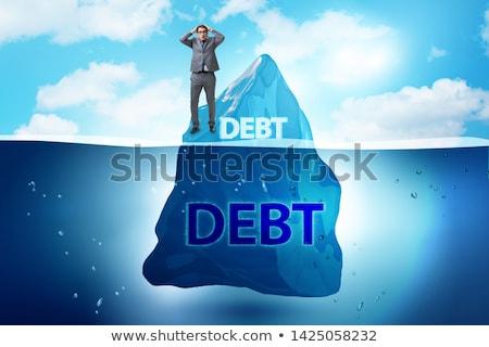 Deuda préstamo oculto iceberg mar invierno Foto stock © Elnur