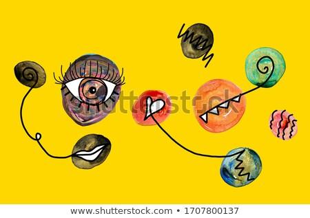 Сток-фото: иллюстрация · золото · граффити · геометрический · круга · набор