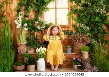 ストックフォト: 母親 · 少女 · ドレス · テラス · 結婚式