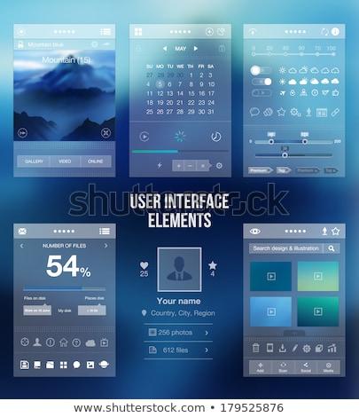 Działalności pomysł app interfejs szablon biznesmenów Zdjęcia stock © RAStudio