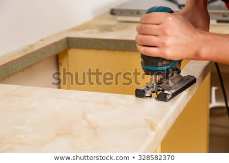 Installing New Induction Hob In Kitchen Stock photo © AndreyPopov