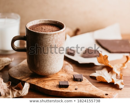 Chocolat chaud guimauve vacances still life bougies Photo stock © dolgachov