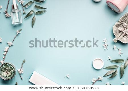 kozmetika · smink · termékek · izolált · fehér · háttér - stock fotó © serdechny