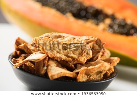 slices of dried papaya served as appetizer or snack Stock photo © nito