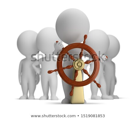 3d small people - captain and crew Stock photo © AnatolyM