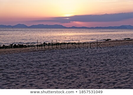 Twilight at Ao-nang bay Krabi Thailand Stock photo © jomphong