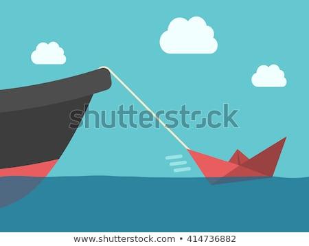 Little tug, big boat Stock photo © jsnover