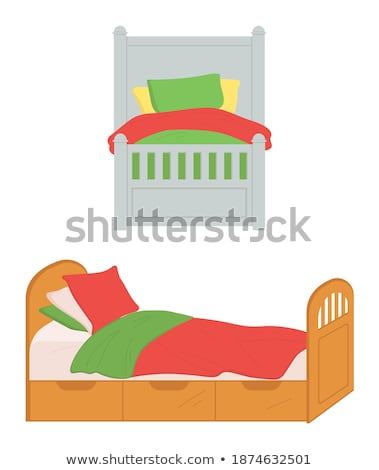 Small Size Bed for Children, Isolated Sofa Home Stock photo © robuart