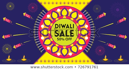 happy diwali sale celebration firework with crackers design Stock photo © SArts