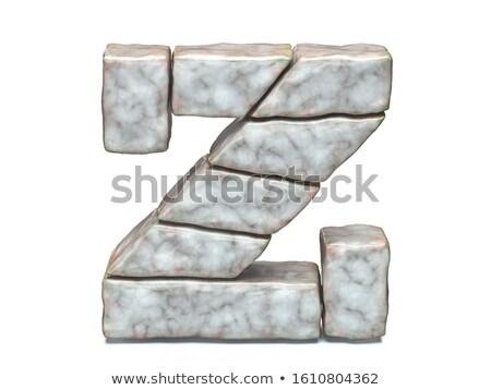 Rock masonry font letter Z 3D Stock photo © djmilic