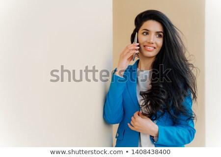 Alegre europeo mujer de negocios una buena noticia Trabajo elegante Foto stock © vkstudio