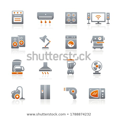 Electrodomésticos iconos grafito vector web los medios de comunicación Foto stock © Palsur