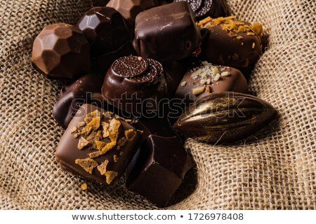 still life of Belgian pralines Stock photo © phbcz