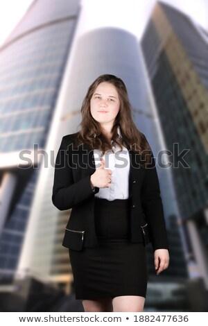 美しい · 小さな · ビジネス女性 · 黒服 · ショット - ストックフォト © darrinhenry
