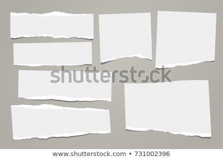 Blanche papier coincé blanc noir noir affaires Photo stock © latent