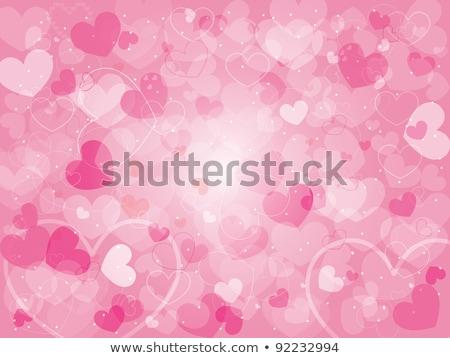 Valentin rose forme de coeur pourpre blanche amour Photo stock © meikis