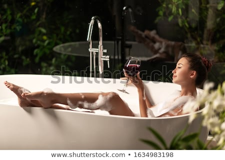 gorgeous relaxed spa girl stock photo © lithian