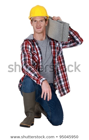 Mason carrying breeze block Stock photo © photography33