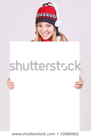 Red-haired woman with white panel Stock photo © photography33
