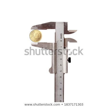 vernier calipers with coin isolated stock photo © ozaiachin