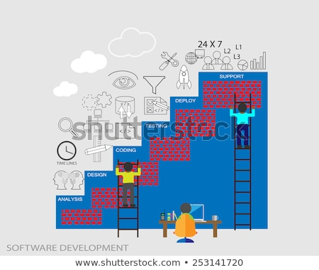 Vector system development cycle stock photo © orson