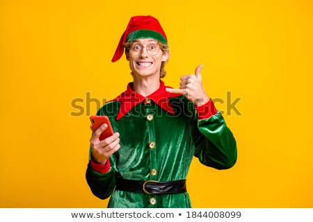 show me sms message man holding mobile phone stock photo © adamr