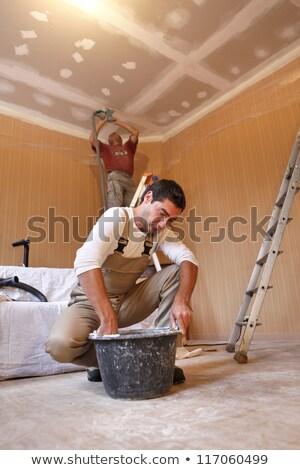 рабочих · цемент · штукатурка · домой · саду · инструментом - Сток-фото © photography33