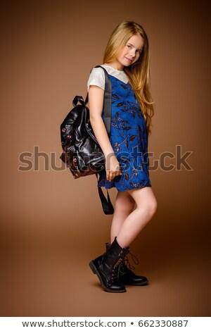 выстрел · сумку · девушки · школы - Сток-фото © stockyimages
