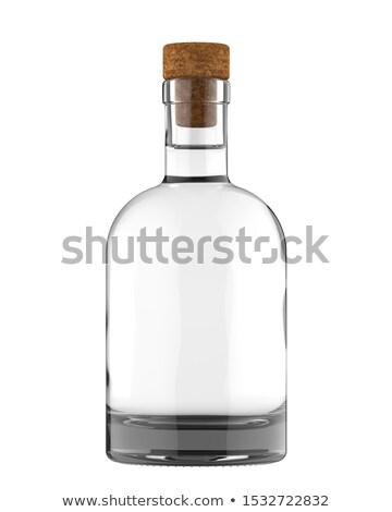 Butelki wódki biały zielone etykiety strony Zdjęcia stock © ozaiachin