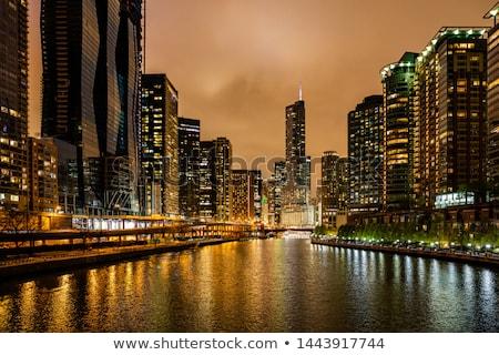 Чикаго · сумерки · мнение · центра · США · высокий - Сток-фото © andreykr