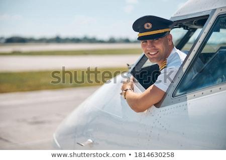 polgári · légi · közlekedés · repülőgép · kék · utazás · repülőgép - stock fotó © photography33