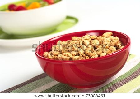 vruchtensalade · sinaasappelsap · voedsel · ontbijt · banaan · salade - stockfoto © ildi